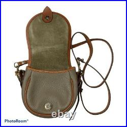 Vintage Dooney & Bourke AWL Big Duck Crossbody Purse Taupe Tan Made in USA
