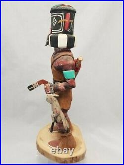 Vintage Hopi Kachina by Larry David (1948 2006) Left Hand Kachina made 2001