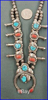 Vintage Native American Made Squash Blossom Necklace