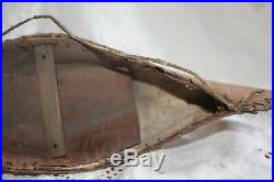 Vintage Native American Ojibwe Hand Made 1930's 14 Birch Bark Toy Canoe
