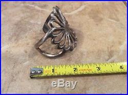 Vintage Navajo Native American Silver Hand Made Sand Cast Cuff Bracelet