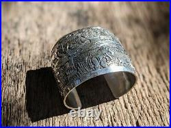 Vintage Navajo Story Teller Cuff Bracelet Sterling Becenti Hand Made Jewelry