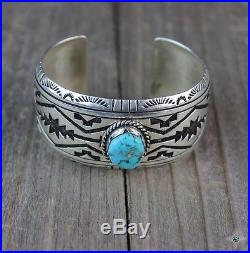 Vintage Navajo Turquoise Cuff Sterling Silver. 925 overlay Native made Bracelet