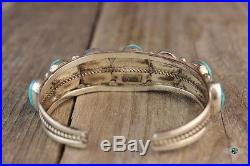 Vintage Navajo made Turquoise sterling silver Bracelet. 925 Native American cuff
