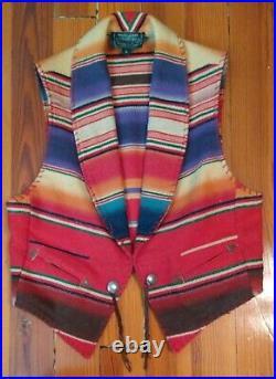 Vintage Ralph Lauren Country MADE USA Beacon / Aztec Blanket Vest Southwest
