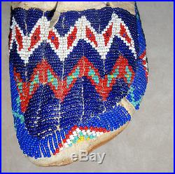 Vintage Sioux Indian Beaded Moccasins, Native American Made Rosebud, S. D