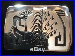 Vintage Sterling Silver Belt Buckle Made By Hopi Artist Kevin Takala