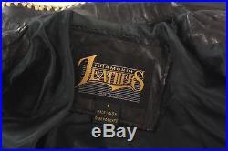 Vintage Womens FRINGE Beaded LEATHER Jacket Native American USA Made sz 8 Medium