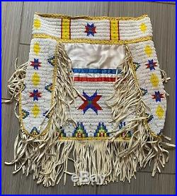 Vintage native american hand made beaded skirt cover