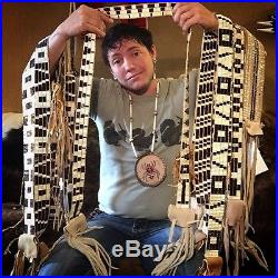 Wampum band for top hat Native American made rendezvous Cherokee steampunk