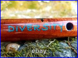Woodsounds Native American Style Flute Diversity Made by Brent Haines. Dm