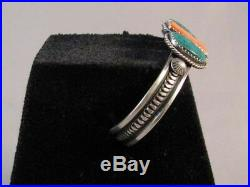 Zuni Indian Made Sleeping Beauty Turquoise Spiny Cuff Bracelet by Ervin Lucio